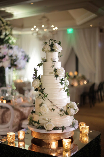 Naples florida luxury wedding details, cake and reception decoration