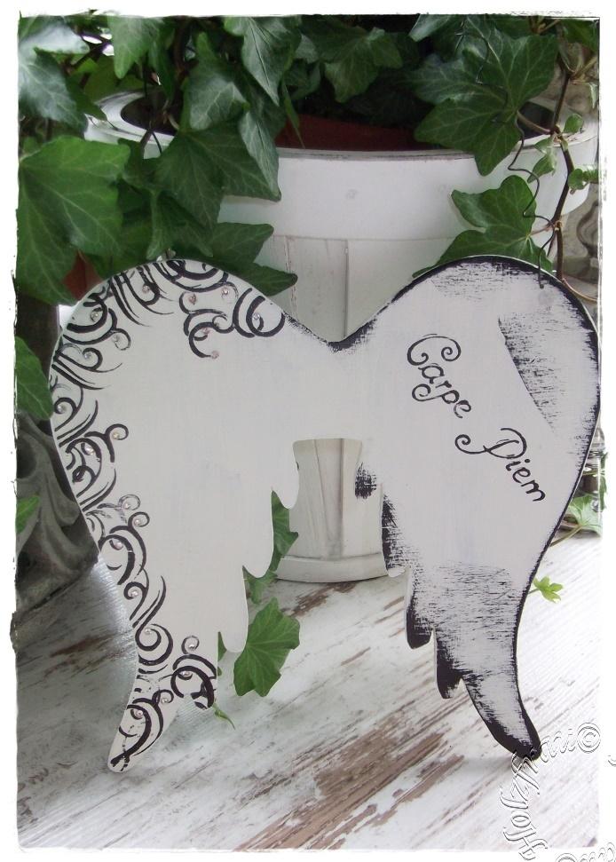 Engelflügel im Shabby Chic und Vintage Style | Scheunenzauber