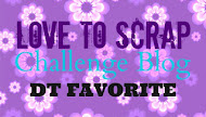 DESIGN TEAM FAVOURITE OVER AT LOVE TO SCRAP CHALLENGE