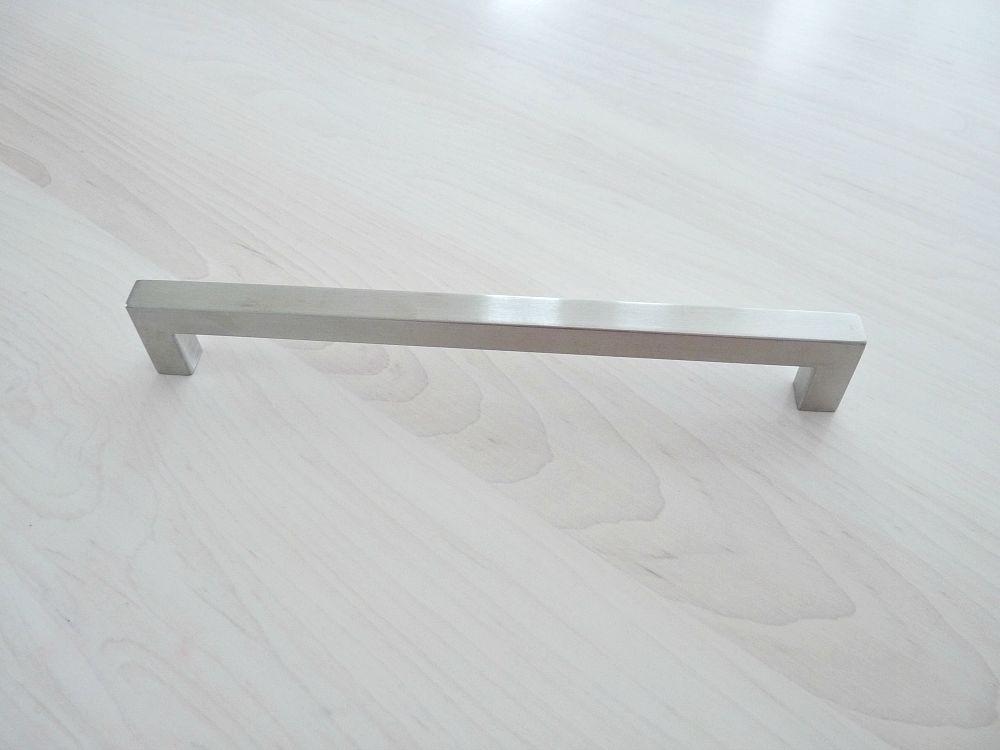 Long brushed silver hardware