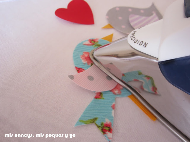 mis nancys, mis peques y yo, tutorial aplique en camiseta, birds in love, planchar sin vapor