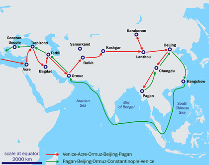 Marcopolo traveling map