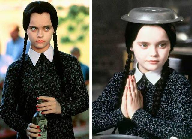 Figurino Vandinha filme da Família Addams