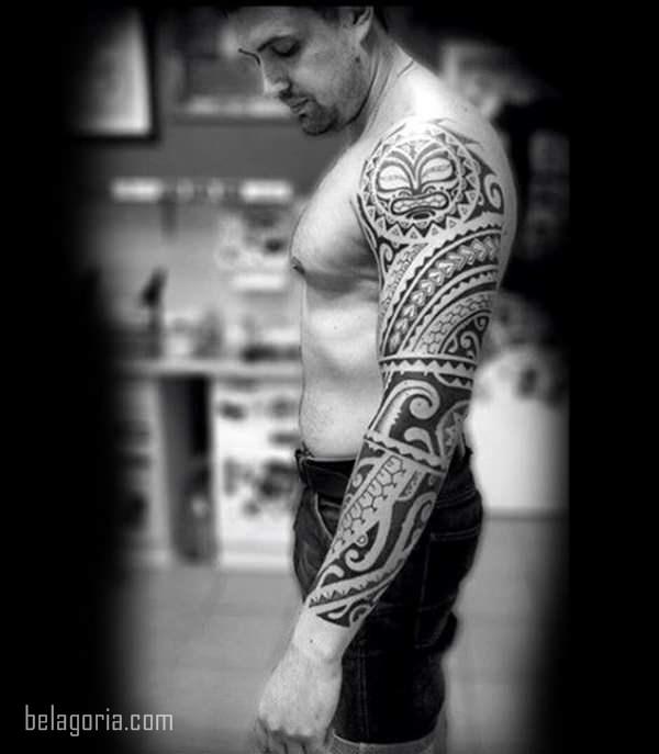 Imagen de un Tatuaje tribal para hombre