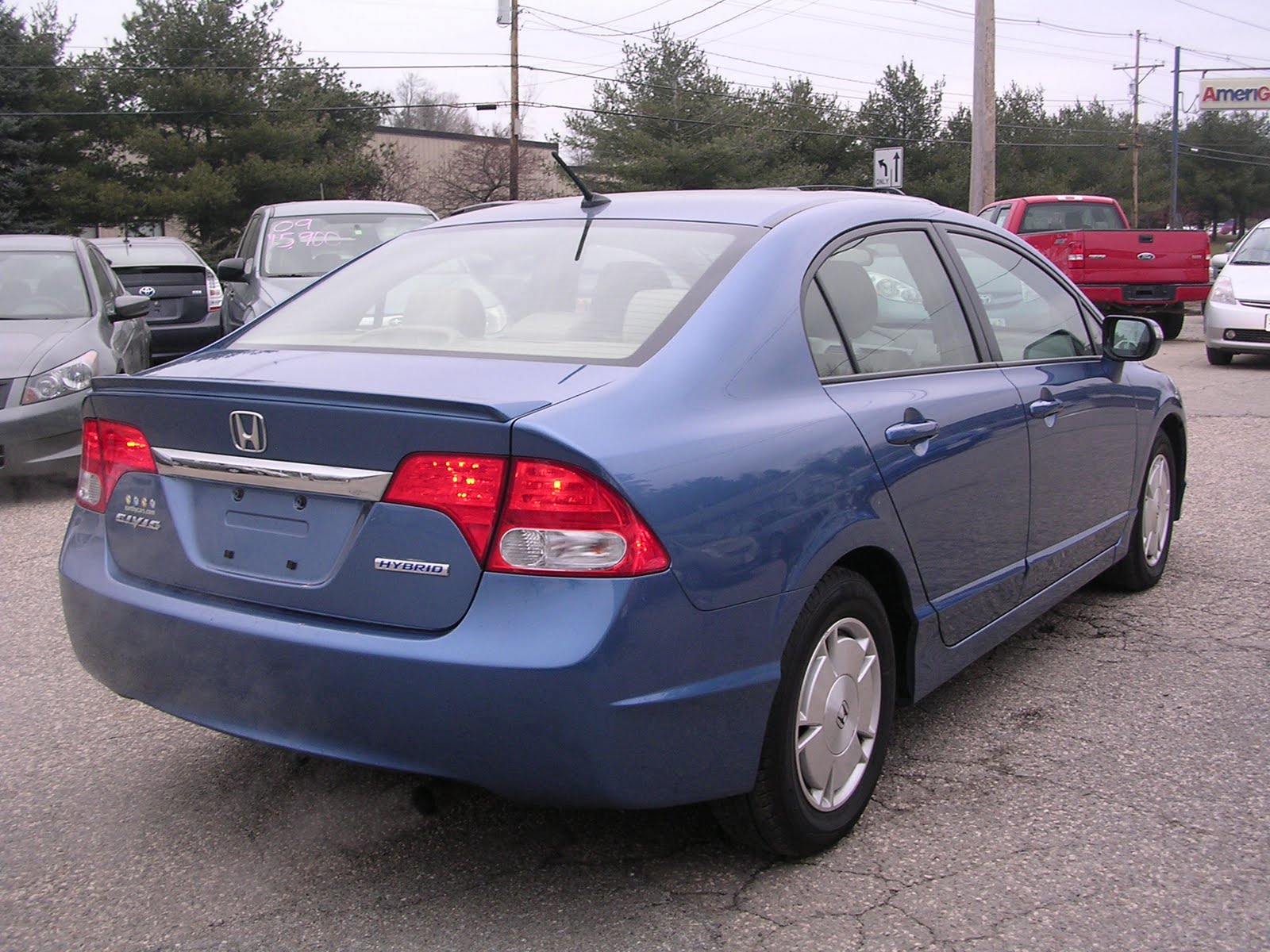 earthy cars blog earthy car of the week 2009 blue honda civic hybrid. Black Bedroom Furniture Sets. Home Design Ideas