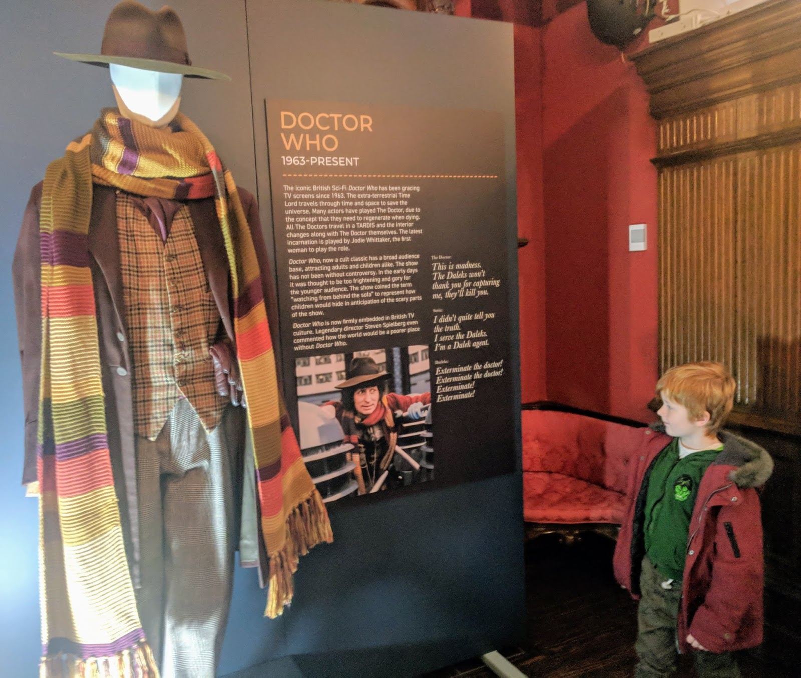 Preston Park - Behind the Seams | 10 reasons to visit with tweens and teens  - Tom Baker's Doctor Who Costume
