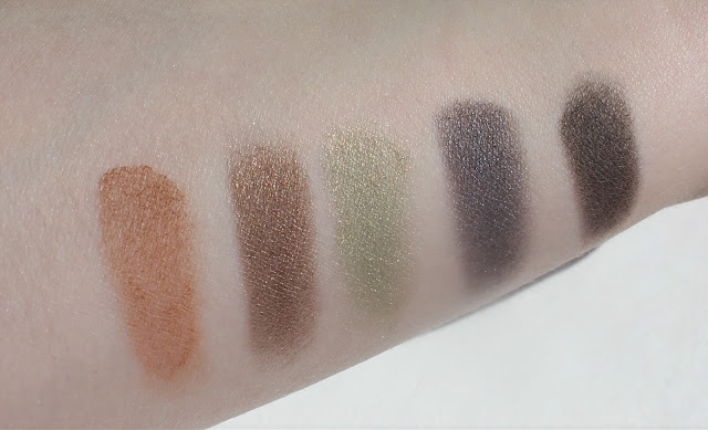 Profusion 5 Color Eyeshadow Palette - Swatches