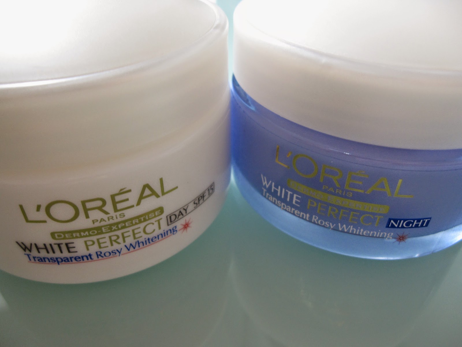 L' Oreal white perfect Transparent rosy whitening Day & night