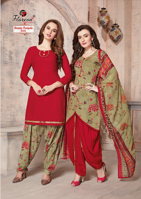 Floreon Beauty Patiyala Punjabi Printed Dress Material