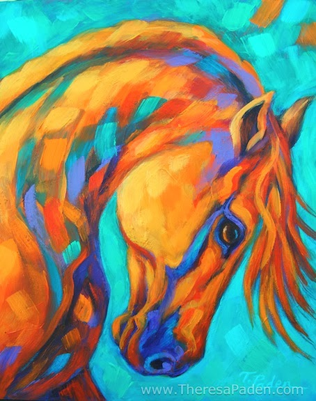 California Artwork: Bright Colored Original Horse Art by ...