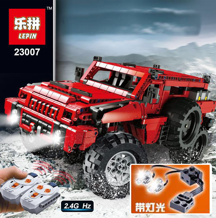Build A Jeep >> downtheblocks: Lepin 23007: Technic The Marauder (Based on MOC) Preview