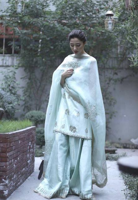 Recent shoot of Mahira Khan in traditional wear .
