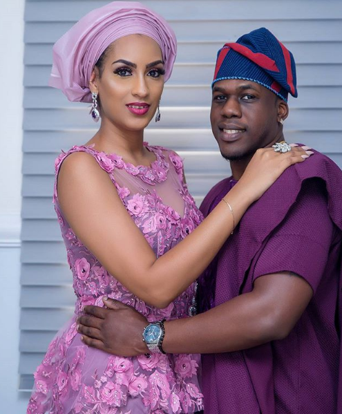 """Juliet Ibrahim and Ice Berg Slim are serving couple goals at Banky W & Adesua""""s wedding"""