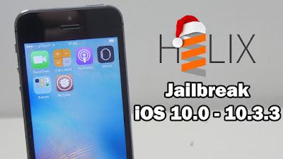 Cara Jailbreak iPhone 5, iPhone 5c, iPad  iOS 10.3.3 Menggunakan Helix iPA dengan mudah