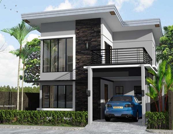 Gambar Rumah Minimalis 2 Lantai Modern Tampak Depan