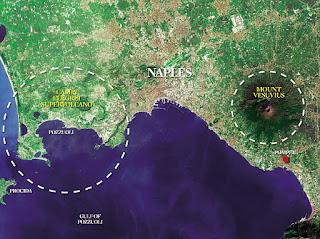 Mapa volcán Campi Flegrei