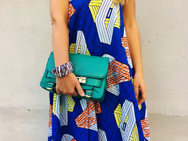 Proenza Schouler, Boohoo, african print, midi dress, ankle strap platform sandals, summer style, how to wear oversized dress, how to wear platforms, boohoo sandals, cross body designer bag, toronto blogger, kako nositi visoke potpetice, kako nositi letnju haljinu, print midi dress, favourite bloggers, best blogger style