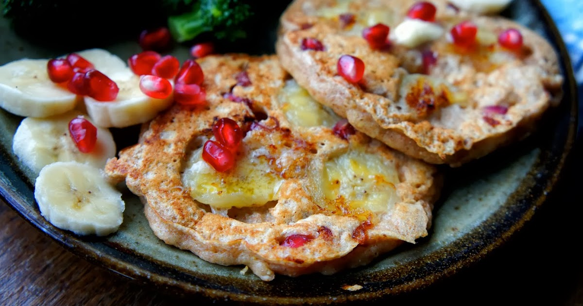 Kid Can Eat!: Whole Wheat Pomegranate Pancakes