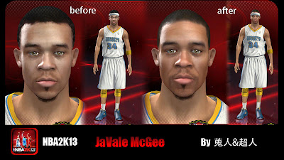 NBA 2K13 JaVale McGee Cyberface NBA2K Patches