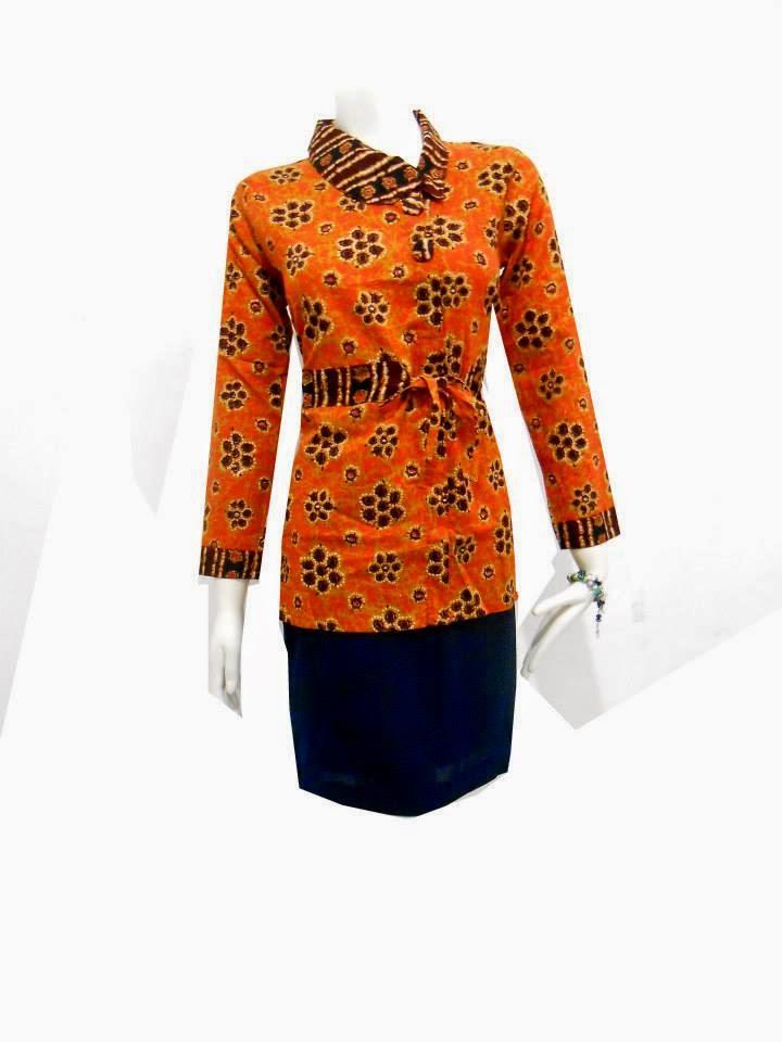 Modis 22 Baju Batik Kerja Wanita
