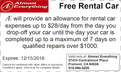 Coupon Free Rental Car November 2018