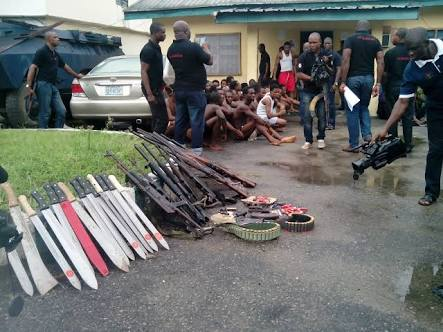 Black Axe Leader, Notorious Armed Robbers Paraded By Police