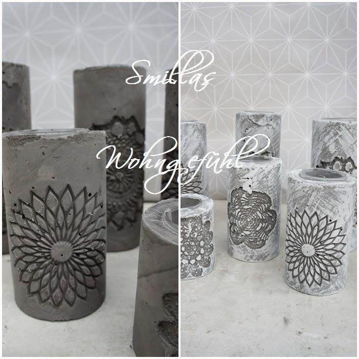 smillas wohngef hl diy concrete candle holder kerzenst nder aus zement. Black Bedroom Furniture Sets. Home Design Ideas