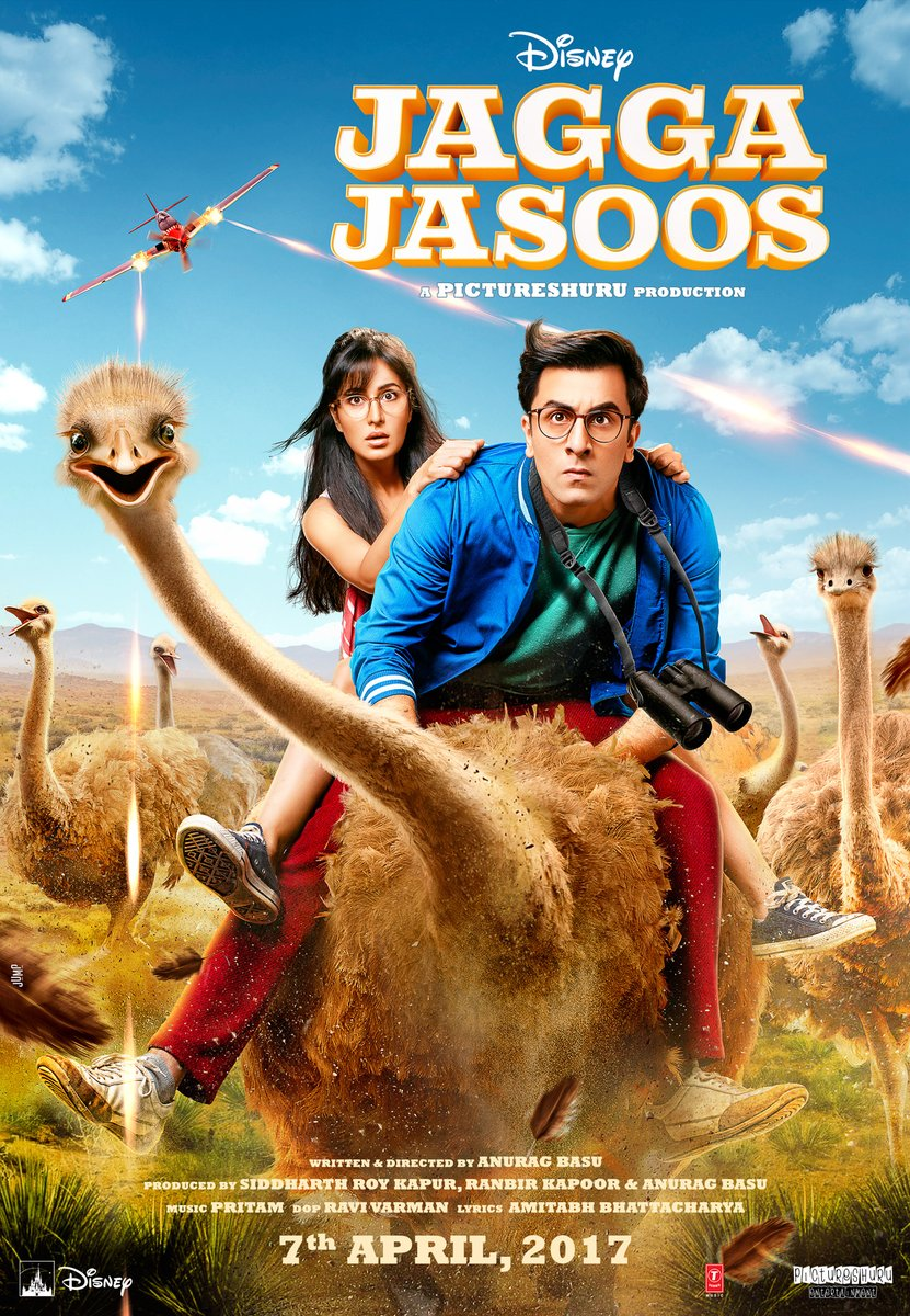 Govinda, Ranbir Kapoor, Katrina Kaif upcoming Jagga Jasoos New Upcoming hindi movie Poster, release date 2017
