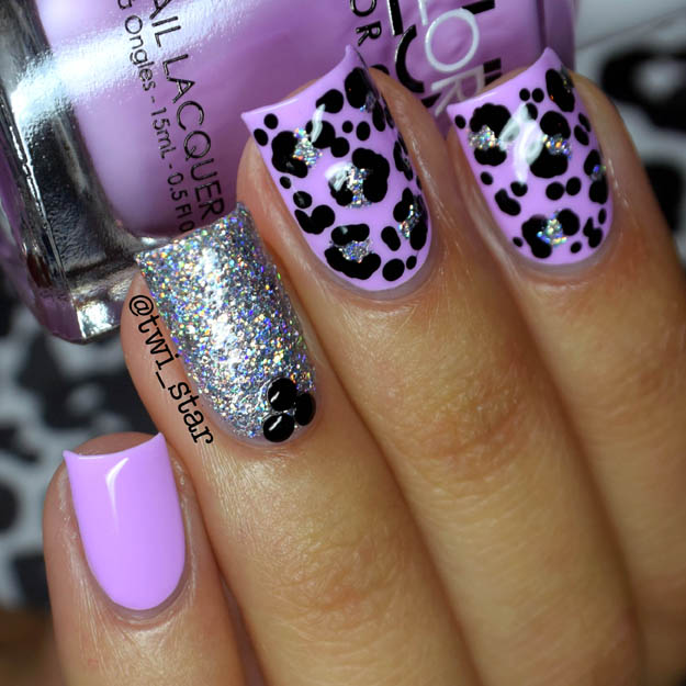 Color Club Diggin' The Dancing Queen Different Dimension swatch leopard nail art