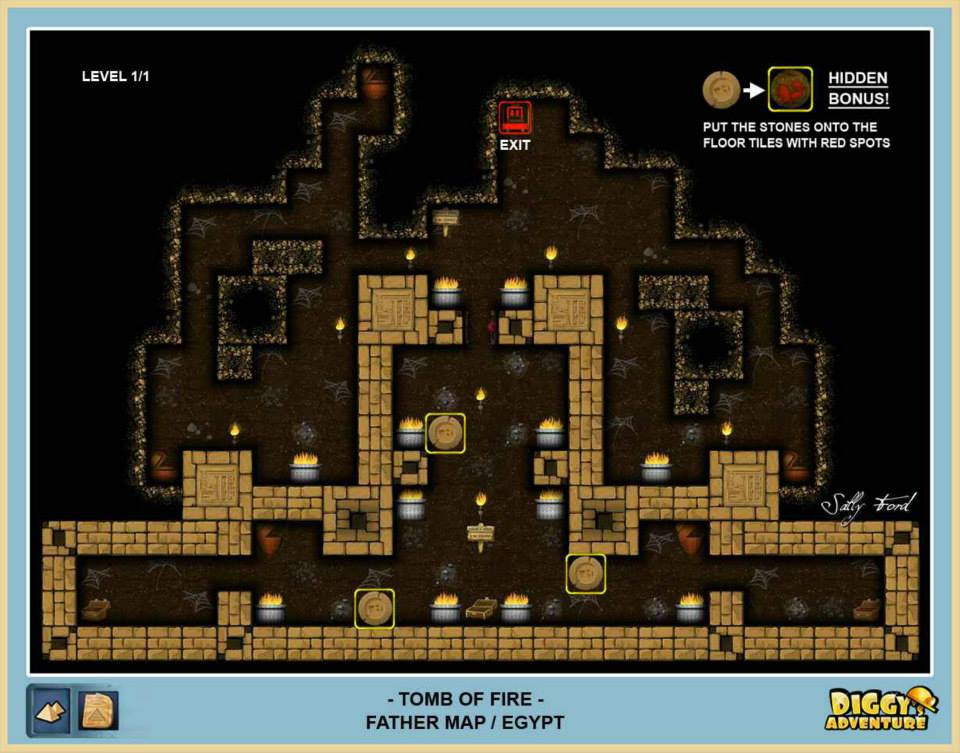 Diggy's Adventure Walkthrough: Egypt Father Quest / Tomb of Fire