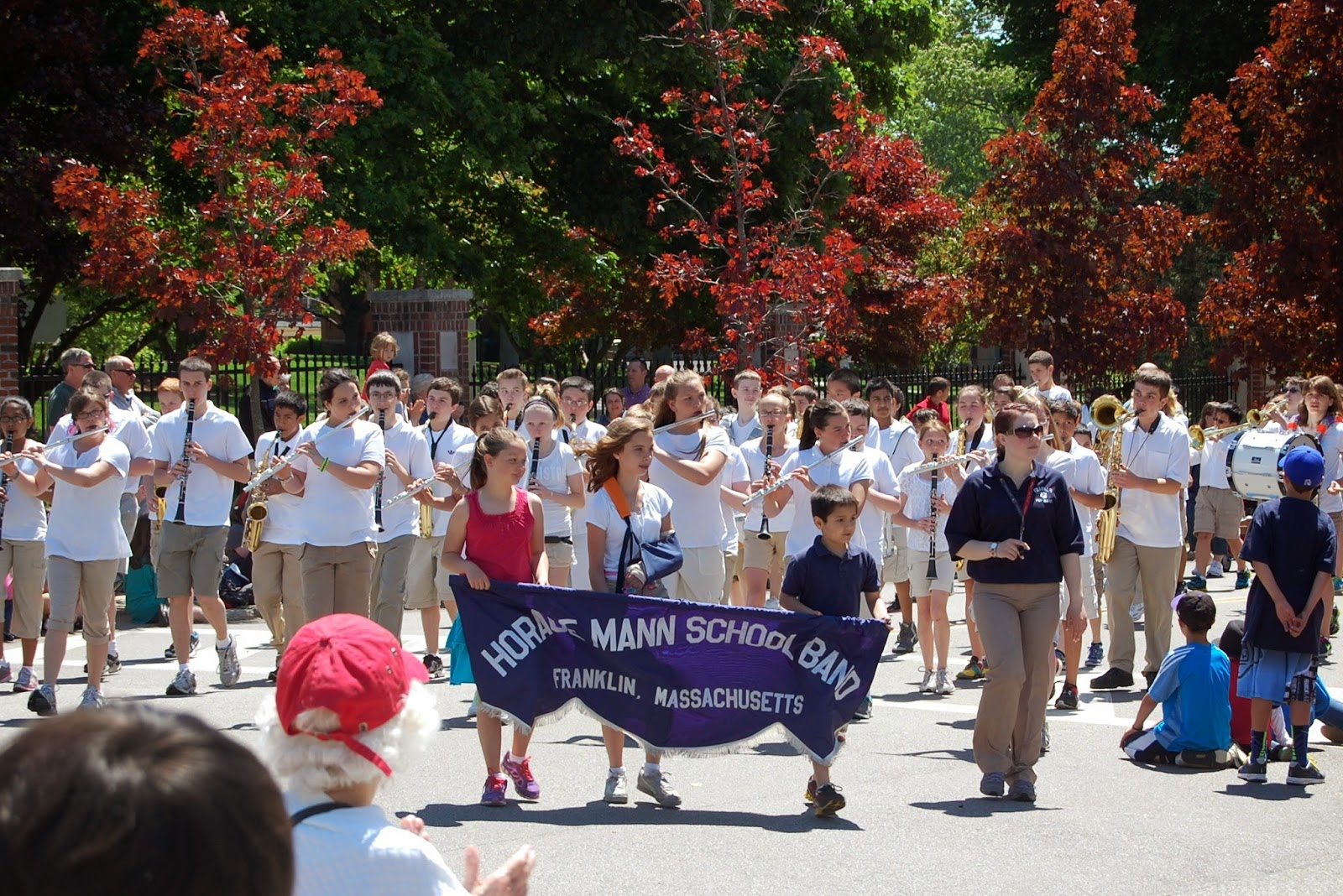 Horace Mann Middle School Band from Memorial Day parade 2013