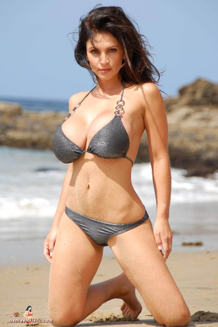 Denise-Milani-Beach-Silver-bikini-hottest-photoshoot-pics-30