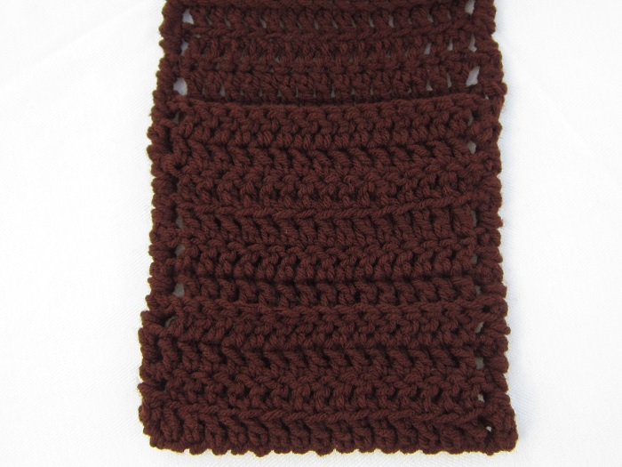 crochet, free pattern, scarf, pocket, easy, beginner, double crochet, simple texture