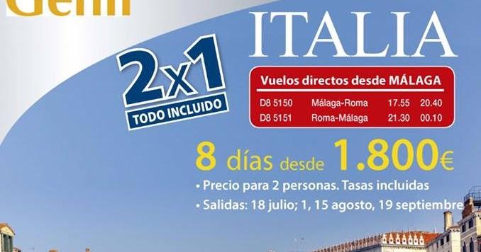 Viajes genil 2 x 1 circuito italia super oferta vuelo directo desde malaga - Ofertas desde malaga ...
