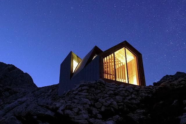 Diseño de cabaña en las montañas