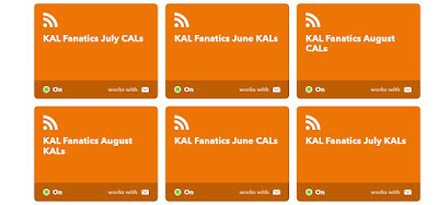 Screen Capture from IFTTT, showing a number of RSS subsciptions to KAL threads.