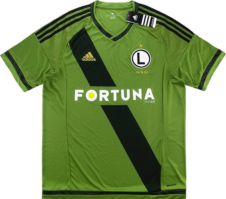 5a06d1d93ef 2015-17 Legia Warsaw Centenary Away Shirt. The gorgeous khaki green and  stylish sash were too tempting.