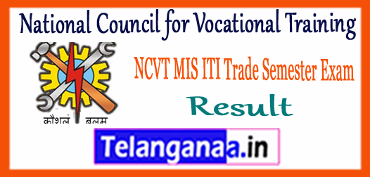 MIS NCVT  National Council for Vocational Training ITI Result 2017