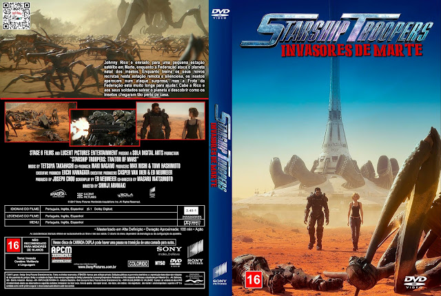 Capa DVD Starship Troopers: Invasores de Marte [Custom]