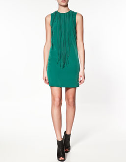 almost 30 - between fashion and chaos: ZARA grünes Kleid ...