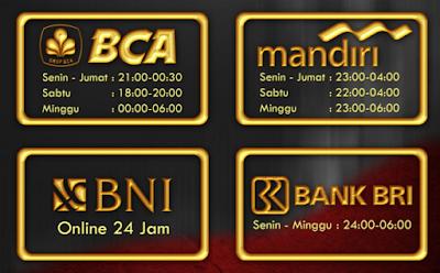 Jadwal BANK BCA BRI MANDIRI BNI Online dan Offline Saat Ini Paling UPDATE