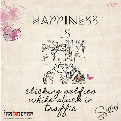Happiness is clicking selfies while stuck in traffic!