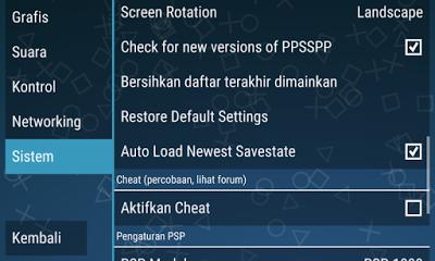 Cara Setting System PPSSPP Agar PSP Lancar