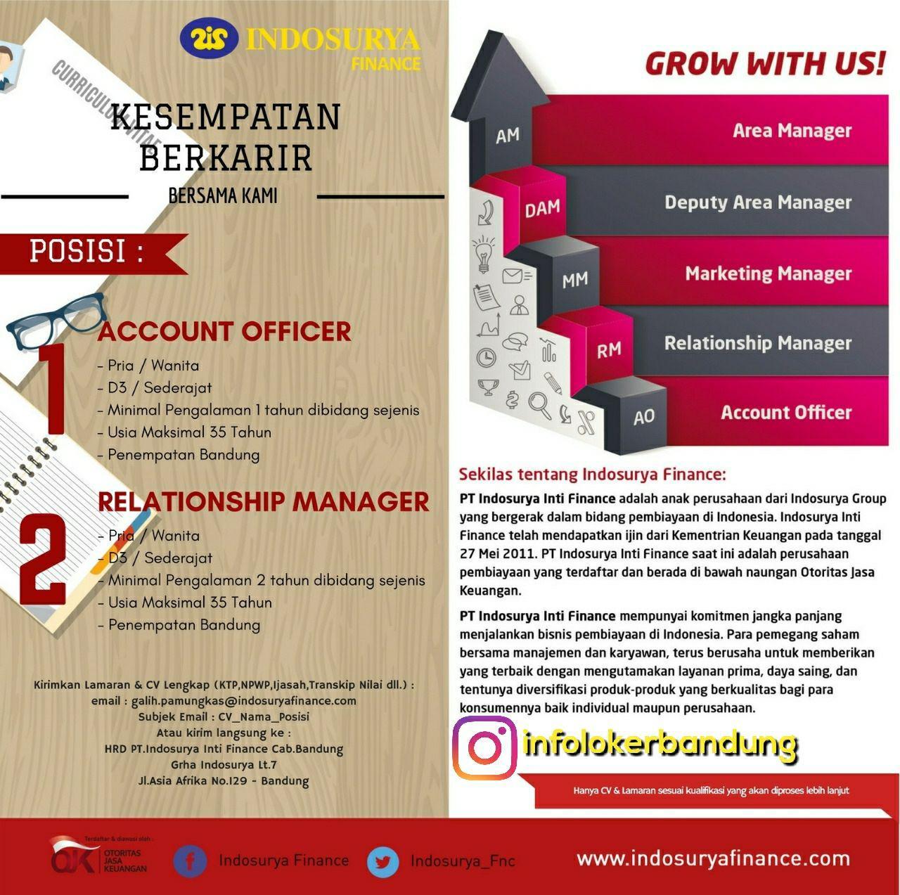 Lowongan Kerja PT. Indosurya Finance Agustus 2017