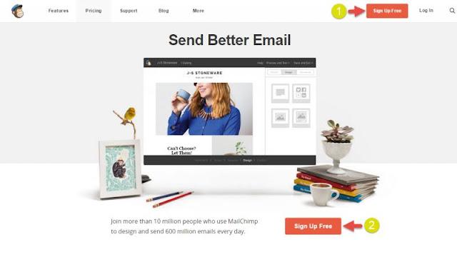 Phần mềm MailChimp