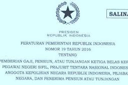[Download] Peraturan Pemerintah [PP] & PMK PEMBERIAN THR bagi PNS [Tahun] 2016 & PP SERTA PMK (Tentang) GAJI ke 13 [Tahun] 2016