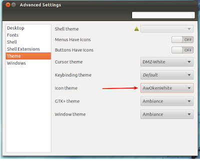 gnome tweak tool in ubuntu 11.10