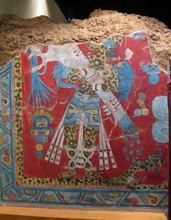 Pintura mural tolteca procedente de Cacaxtla