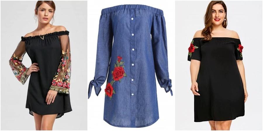 Como usar a tendência dos bordados florais com a loja Rosegal