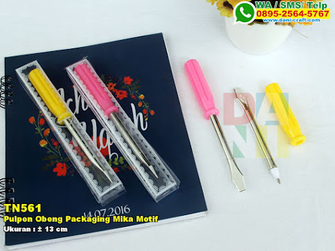 Pulpen Obeng Packaging Mika Motif
